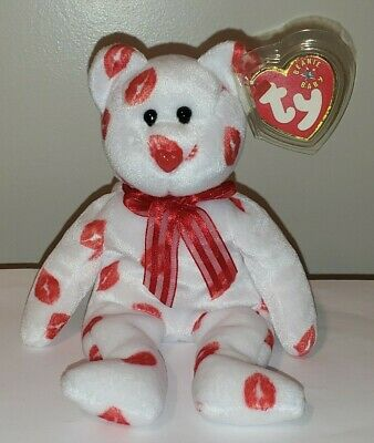 Ty Beanie Baby ~ SMOOCH the Kisses Bear ~ MINT with MINT TAGS ~ RETIRED