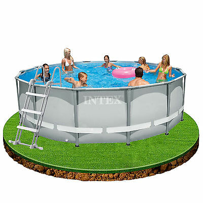 Intex 14ft x 42in Ultra Frame Swimming Pool + Filter Pump, Cover, Ladder etc