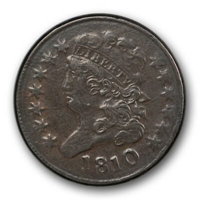 1810 1/2C Classic Head Half Cent Extra Fine XF US Type Coin R451