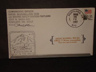 USCGC BLUEBELL WLI-313 Naval Cover 1983 Signed FIRST DAY Cachet PORTLAND, OR