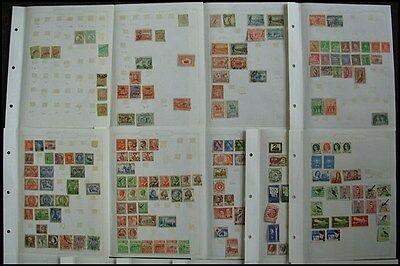 AUSTRALIA MINT OR USED PRE-DECIMAL COLLECTION ON ALBUM PAGES (x15) (ID:C218)