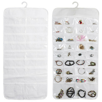 Hanging Jewelry Organizer Bracelet Earring Ring necklace 72 Pocket Pouch Holder