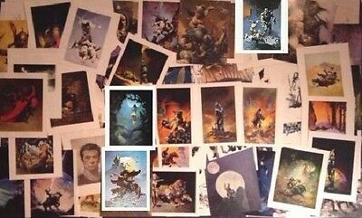Frank Frazetta vintage lot 100 Original art print lithographs w/ Moon's Rapture