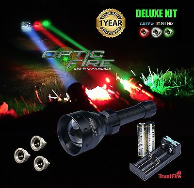 Opticfire TX-67 T67 LED deluxe torch light lamp hunting lamping fox shooting kit
