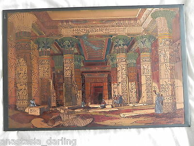 Extremely rare 1799 Circa Napoleon plate PORTICO THE TEMPLE OF DENDERA only 1