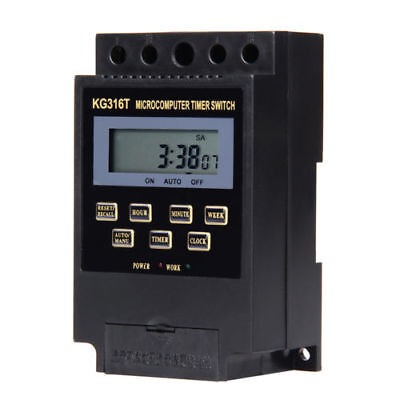 KG316T AC 220V LCD Microcomputer Timer Switch Programmable Controller