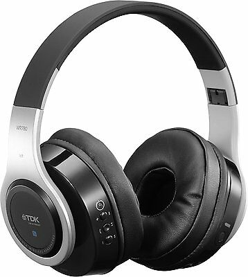 TDK WR780 Wireless Bluetooth Rechargeable Stereo Headphones Earphones With Mic