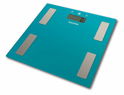 Salter 180kg Electronic Digital Bathroom Analyser Scale - Teal Glass - New