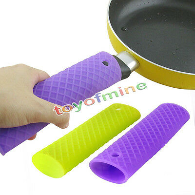 Silicone Pot Pan Handle Saucepan Holder Kitchen Sleeve Slip Cover Grip Utensils