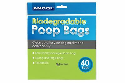 Ancol 40 160 400 Pack Dog Puppy Walking Poo Poop Waste Black Bag Bio-Degradable