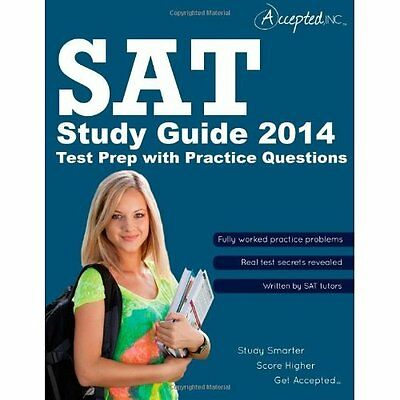 SAT Study Guide 2014: SAT Test Prep with Practice Quest - Paperback NEW Accepted