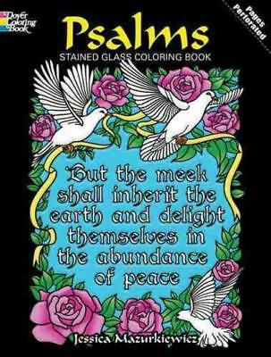 Psalms Stained Glass Coloring Book - Jessica Mazurkiewicz (Paperback) New
