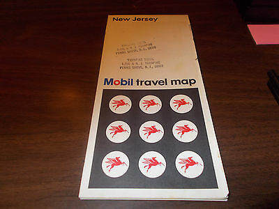 1968 Mobil New Jersey Vintage Road Map