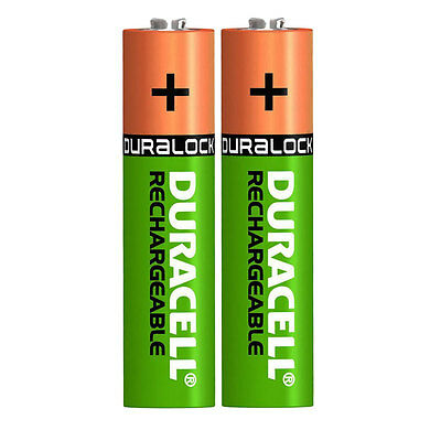 2 x Duracell AAA 750 mAh Rechargeable Batteries for Panasonic Cordless Phone