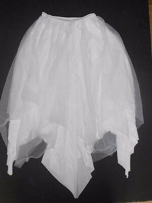 NWOT Double layer pointed hem white skirt chiffon crepe medium child Praise