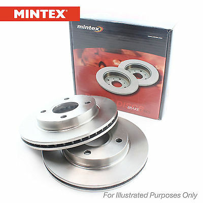 New Ford Focus Genuine Mintex Front Brake Discs Pair x2 - MDC2342