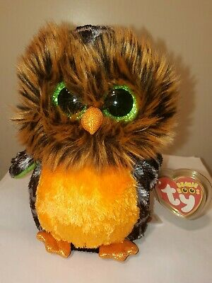 Ty Beanie Boos - MIDNIGHT the Owl (6 Inch) NEW MWMT