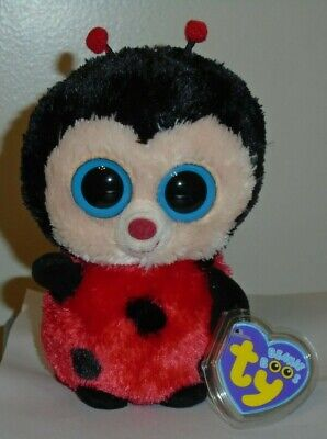 "Ty Beanie Boos ~ BUGSY the 6"" Ladybug ~ MINT with MINT TAGS"