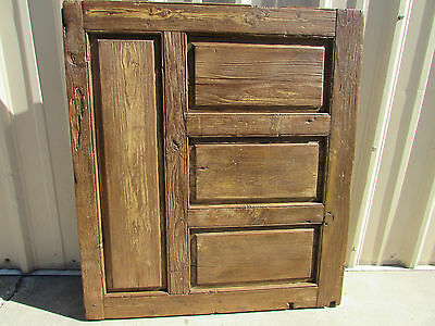 Antique Heavy Mexican Old Door-Vintage-Primitive-Rustic-41x46x3-Gorgeous-Table