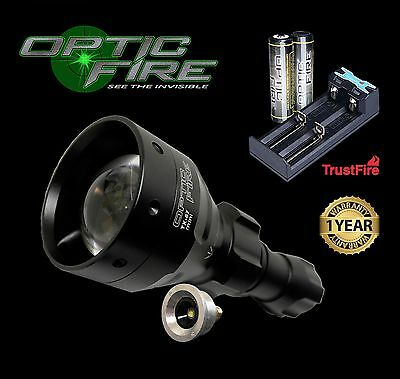 Opticfire TX67 T67 mini LED torch light hunting lamp 18650 battery & USB charger