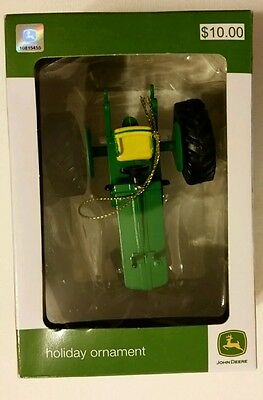John Deere classic tractor Christmas ornament collectible JD NEW