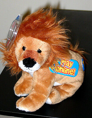 Ty Beanie Baby 2.0 ~ MIDAS the Lion ~ MINT with MINT TAGS ~ Stuffed Animal Toy