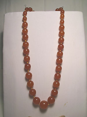 Natural Baltic Amber Necklace ~ #33 ~ Round Honey Beads !!!
