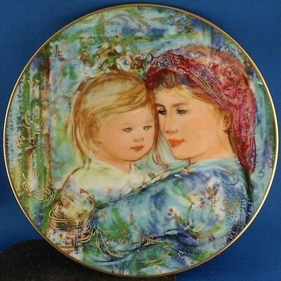 Michele & Anna Mothers Day 1991 Plate Edna Hibel