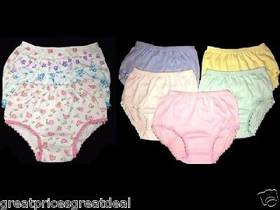 4pk Girl's Underwear 100% Cotton Colors Designs Infant Toddler Preteen Size 1-12