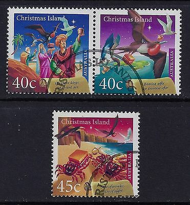 Christmas Island 2000 Christmas Set Of 3 Fine Used