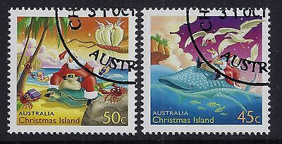 Christmas Island 2003 Christmas Set Of 2 Fine Used