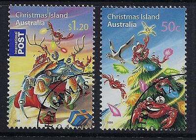 Christmas Island 2008 Christmas Set Of 2 Fine Used