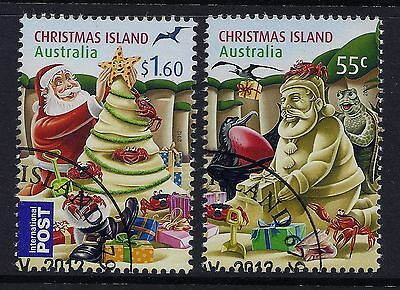 Christmas Island 2012 Christmas Set Of 2 Fine Used