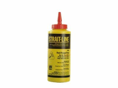 Strait-Line STL64902 Chalk Refill 8 Ounce Red 64902