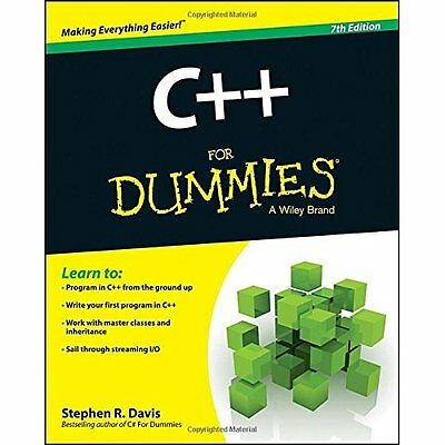 C++ For Dummies (For Dummies (Computers)) - Paperback NEW Stephen R. Davi 2014-0