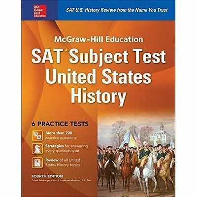 McGraw-Hill Education SAT Subject Test Us History 4th E - Paperback NEW T. R. Te