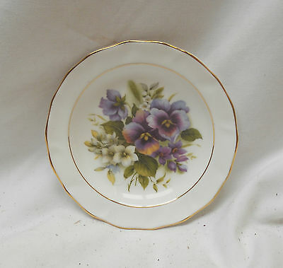 Stunning RARE VINTAGE Collectable SMALL FLORAL PLATE 12cm Diameter
