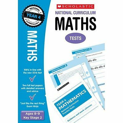 Maths Test - Year 4 (National Curriculum Tests) - Paperback NEW Paul Hollin (Au