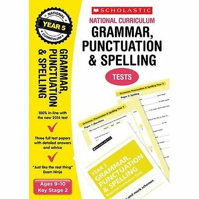 Grammar, Punctuation and Spelling Test - Year 5 (Nation - Paperback NEW Lesley F