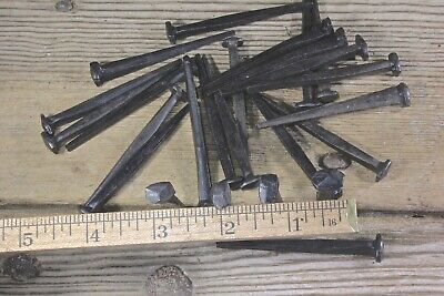 "2 1/2"" Rose head nails 30 in lot square wrought iron Antique vintage look 2.5"