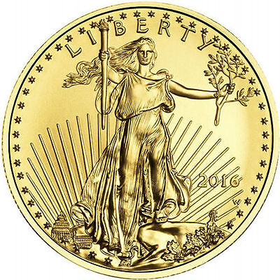 2016 1/10 oz American Gold Eagle Coin (BU, New)