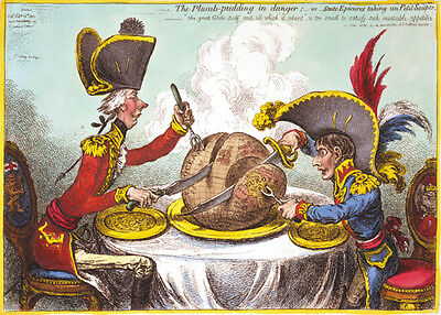 The Plumb-pudding in danger 1805 James Gillray print