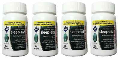4pk Member's Mark Maximum Strength Non Habit-Forming Sleep Aid 96 Softgels