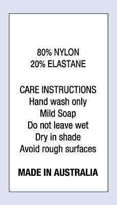 80 % Nylon 20 % Elastane Sewing Washing Care Labels on Soft Satin 4 Pack Sizes