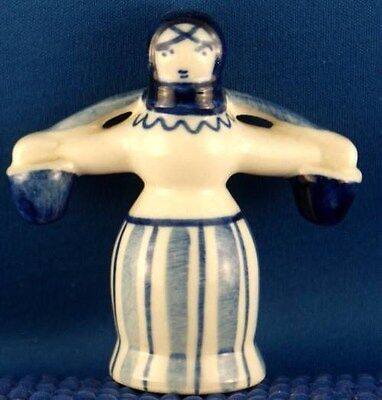 USSR Russian Blue Lady Packing Water Figurine Handpainted Girl Woman