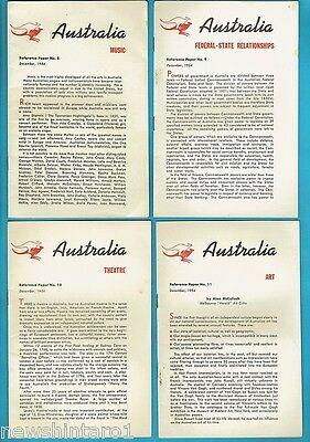 #T56. 19 ISSUES OF AUSTRALIA  SUBJECT  REFERENCE PAPERS 1954 to 1955
