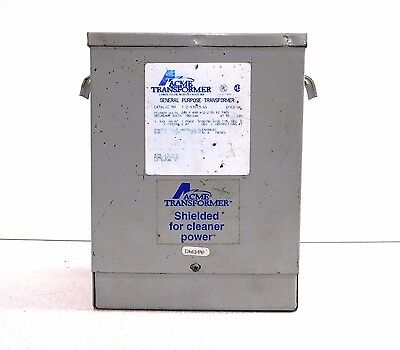 Mo-1796, Acme T2-53013-4S General Purpose Transformer. 3 Kva. 1 Ph. 240X480 V.