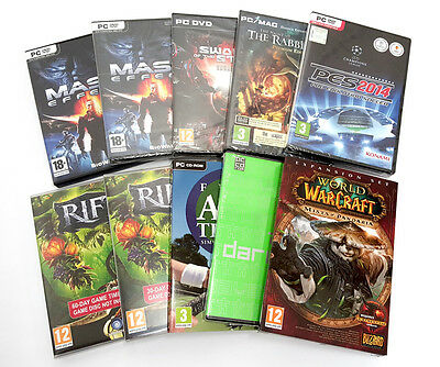 Wholesale Job Lot Of PC Games 10 Mixed Titles - Read Listing - PC Game Bundle 01