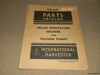 International Harvester Parts Catalog Cream Vacuum Pumps 1948 FREE US SHIPPING