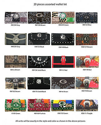 Wholesale Lot - 20 Multi-Color Clutch Purses - Women's Designer Wallets